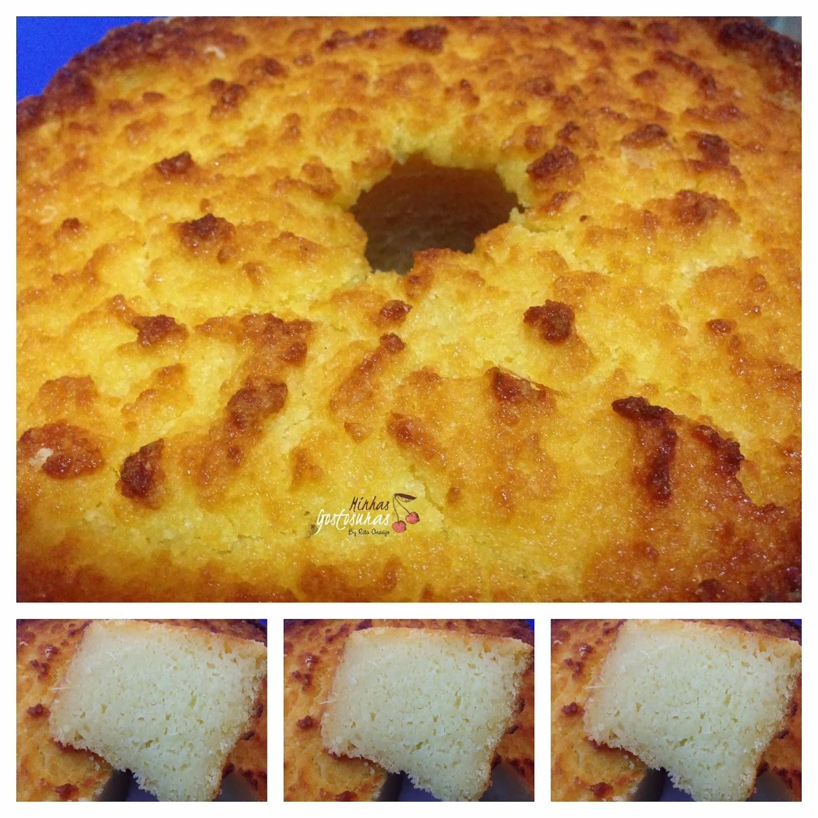 bolo de aipim cozido no liquidificador