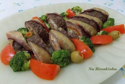 rocambole de carne moida 1 kg meio de carne