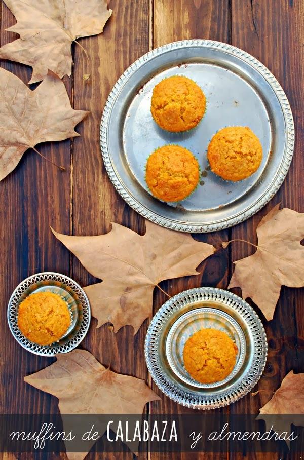 muffins de calabaza y almendra {de improvisaciones}