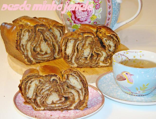 Pão Povitica com recheio de nozes