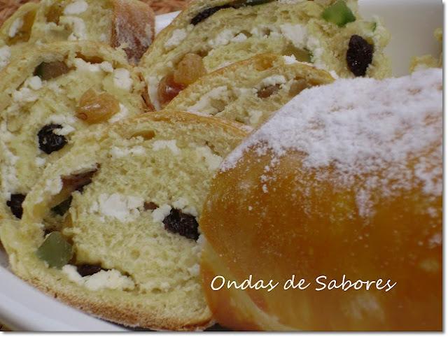 pão doce de ricota e frutas cristalizadas