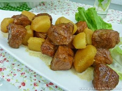 ana maria braga faz carne de porco com batatas