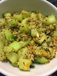 Cucumber Sabzi / Southekai Palya