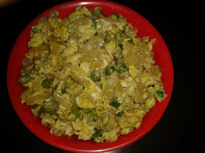 SCRAMBLED EGG WITH SPRING ONION / EGG BHURJI