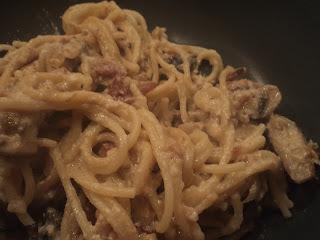 Fedtfattig spagetti carbonara ala Filo