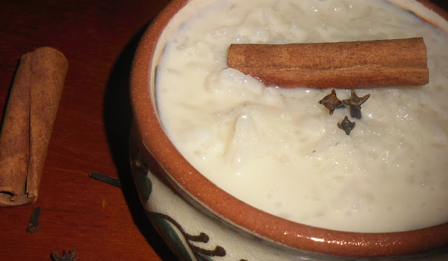 Arroz doce, com leite condensado de soja