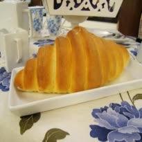 de pão caseiro sem leite e com fermento em pó