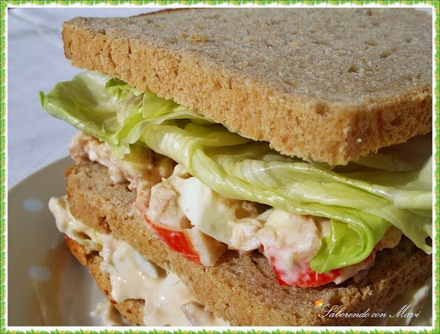 """Sándwich """"vegetal"""" con pan de Centeno"""