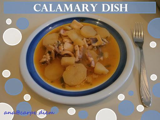 Lignje a la bakalar / Calamary dish