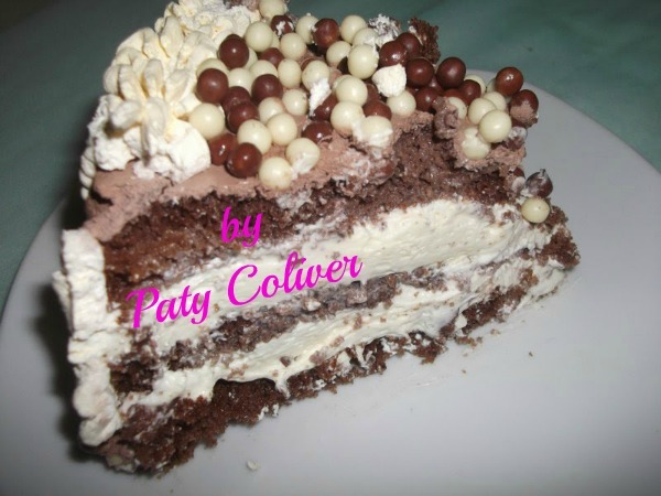Bolo mousse de chocolate branco: Paty Coliver