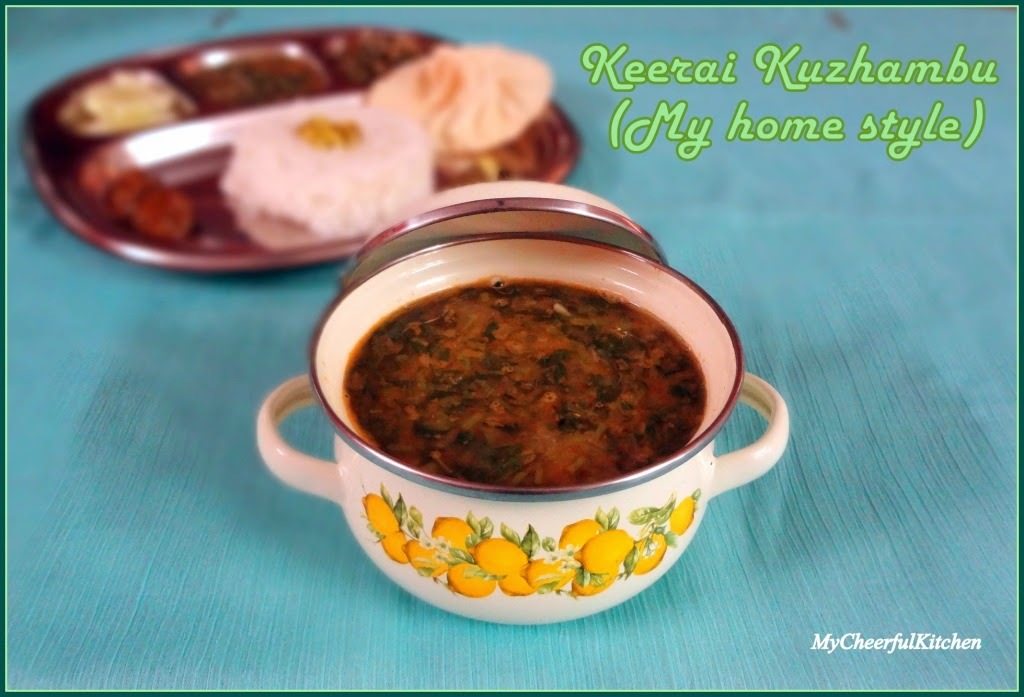 Keerai Kuzhambu/Amarnath leaves gravy (My home style)