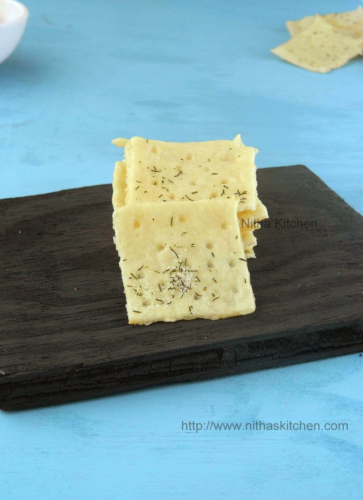 Saltine Crackers | Soda Crackers | Eggless Savory Crackers