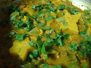 Starfruit and Peppers Medley : Kamrakh Mirch ki Sabji
