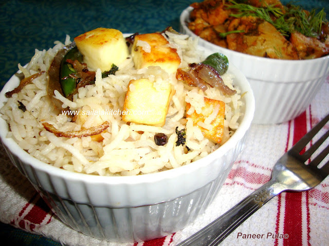 Paneer Pulao Recipe / Paneer Rice Recipe