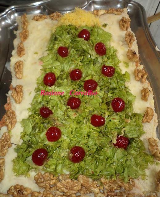 torta salgada arvore de natal