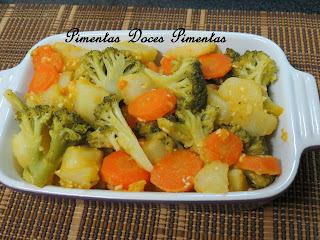 como fazer legumes na manteiga com alho