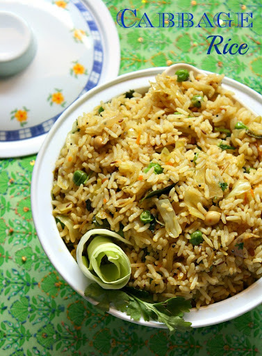 Cabbage Rice Recipe | Variety Rice Recipe | Lunch box recipes