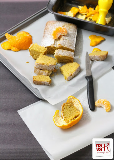 Mandarin Orange Cake (Eggless)