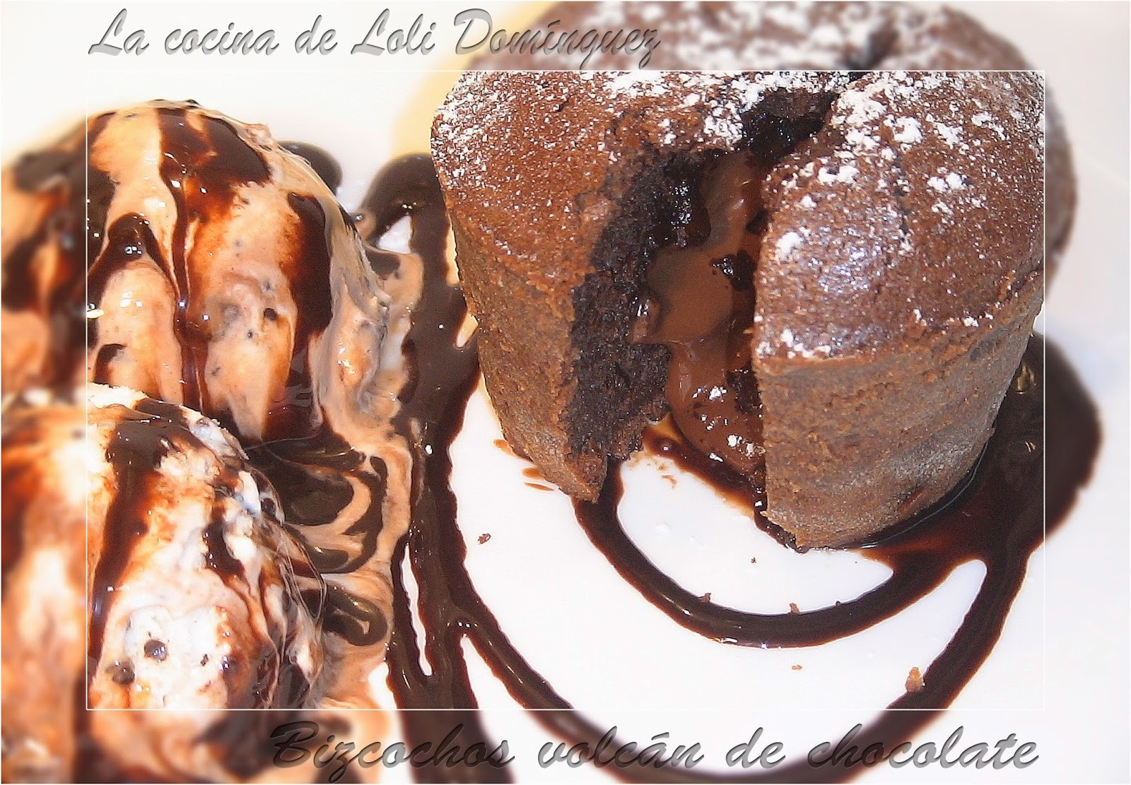 Bizcocho volcán de chocolate