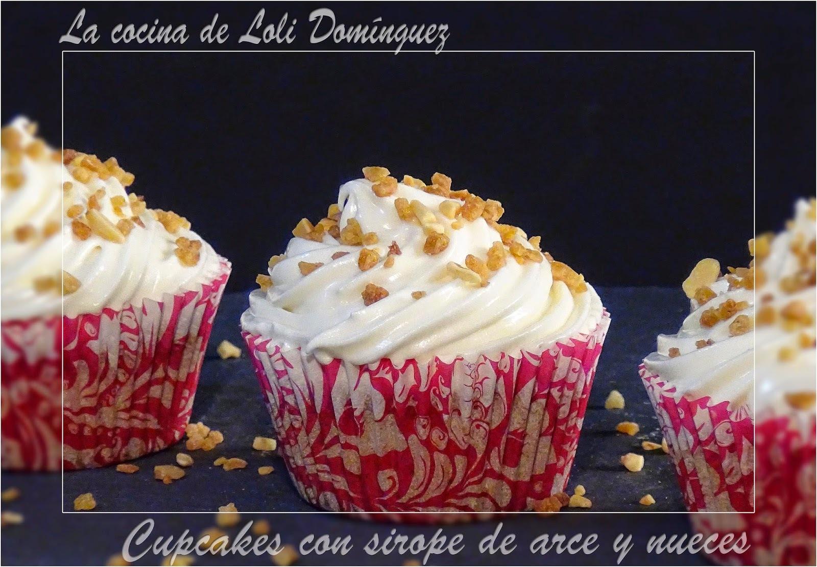 Cupcakes con sirope de arce y nueces