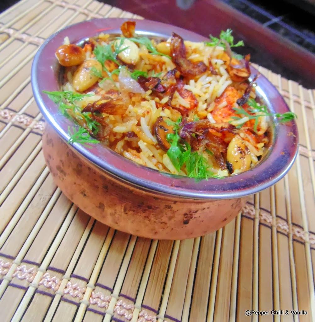 Spicy Paneer Pulav/Pilaf