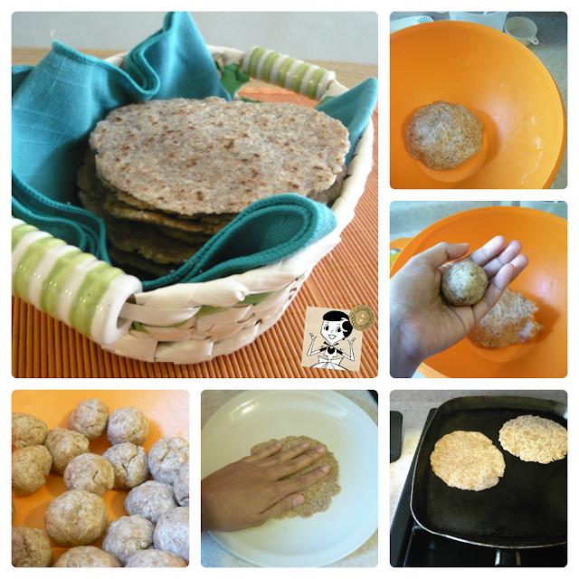 Receta tortillas de harina integrales
