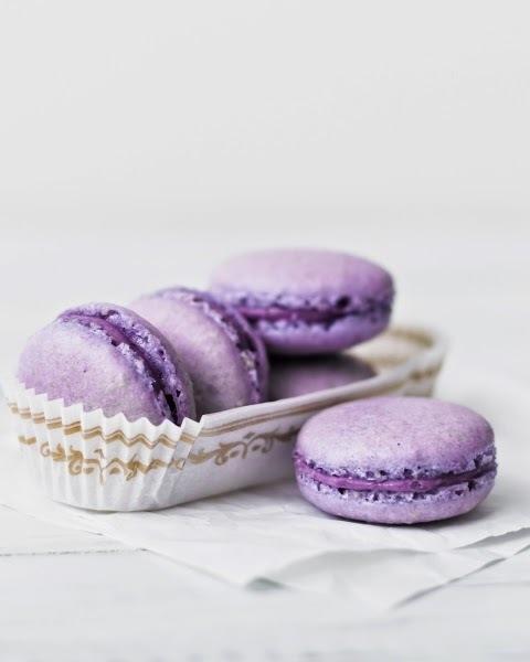 Receta de Macarones Violetas (o de moras)