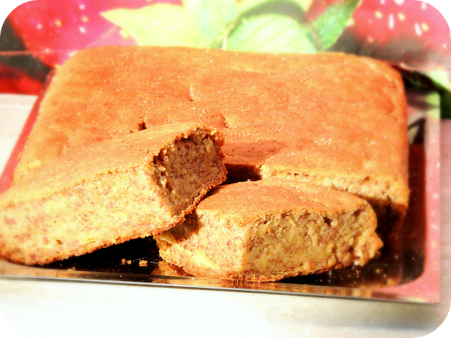facil de torta humeda con dulce de leche