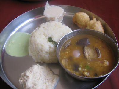 Simple South Indian Breakfast Thali