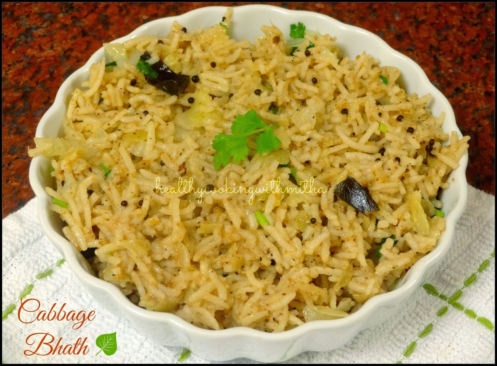 Cabbage Bhath | Flavored Rice from Karnataka