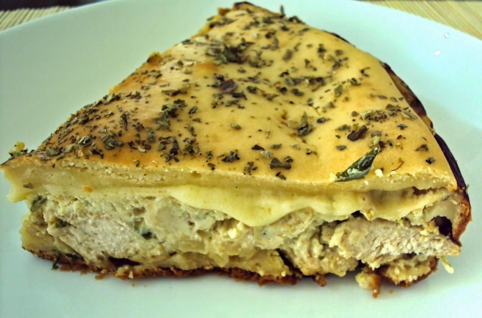 Torta Cremosa de Frango (Liquidificador)
