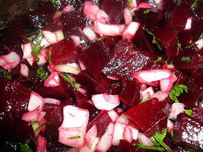 Salada de Beterraba e Dica (microondas)