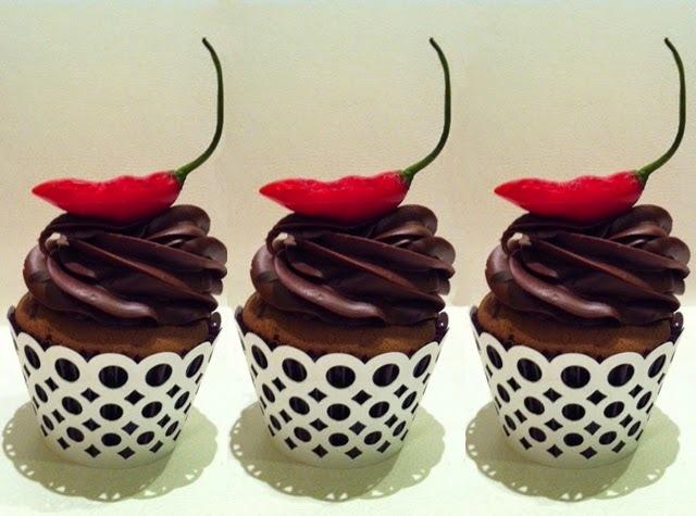 Cupcakes de Chocolate com Pimenta