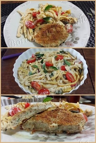 Talharim Low Carb High Fat e hambúrguer de peixe
