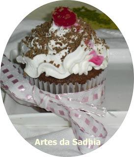 Cupcake  Floresta negra com iogurte Casa da Ovelha .e Publi casa da ovelha
