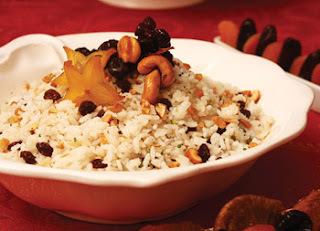 arroz soltinho para a ceia de natal