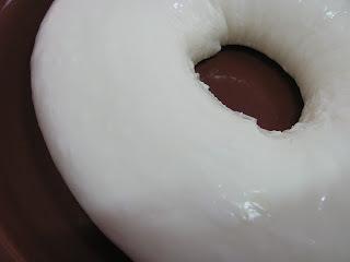 manjar de creme branco com chocolate