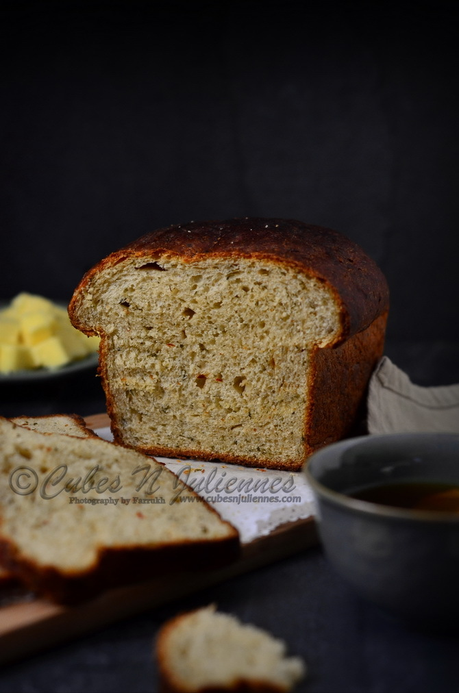 Cheesy Caramalized Onion-Parsley Bread