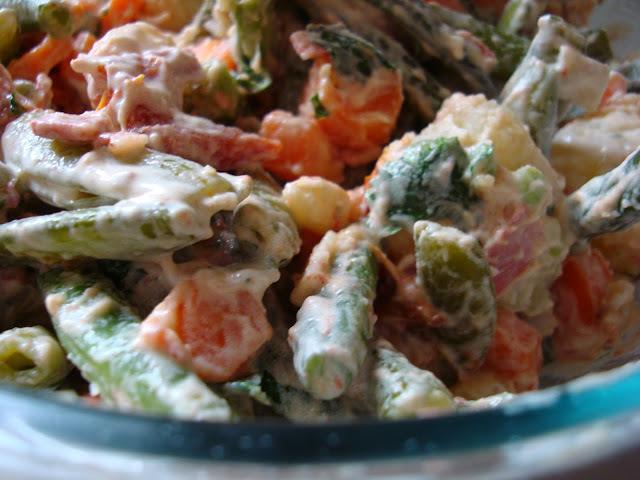 Salada sem maionese