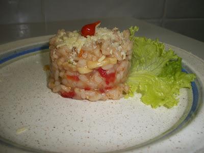 risoto tomate molho de tomate e manjericão