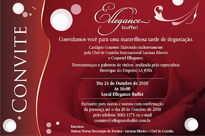 TARDE DE DEGUSTAÇÃO ELLEGANCE BUFFET&LU RIBEIRO CHEF DELIVERY