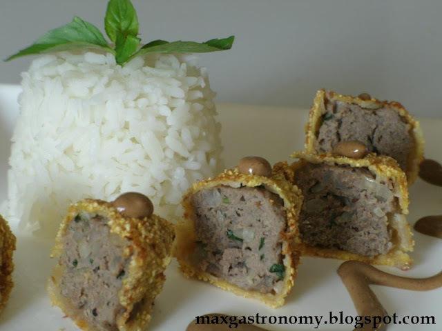 Receita No. 19 - Empanado de Carne Moída com Pimenta Síria e Manjericão