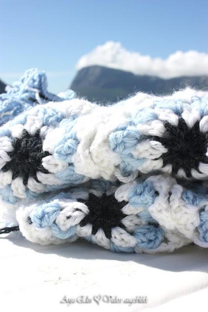 Himmelblått Lofot-teppe