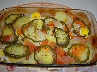 filé de merluza assado no forno com batatas