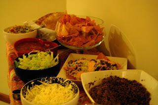 Noite mexicana com as amigas