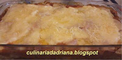 lasanha de queijo presunto carne moida e catupiry