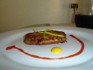 Batata Rosti recheada com bacon e provolone
