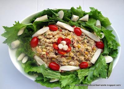 como decorar uma salada de folhas