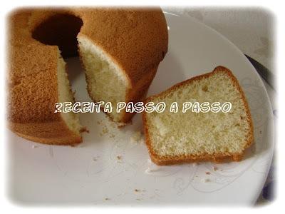 Pão de Ló (Fôrma de diâmetro -  18 cms)