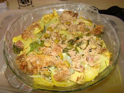 receita de salada de batata e espinafre com atum